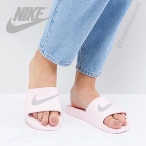 Nike Pink Kawa Sliders